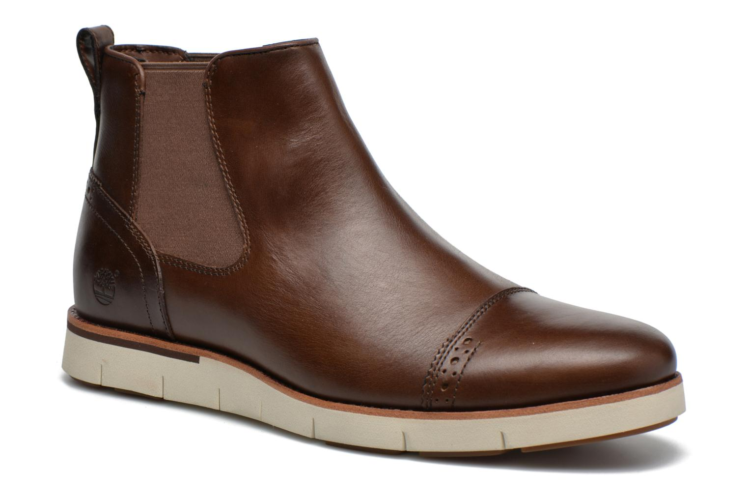 Ankle boots Timberland Preston Hill Chelsea Brown detailed view/ Pair view