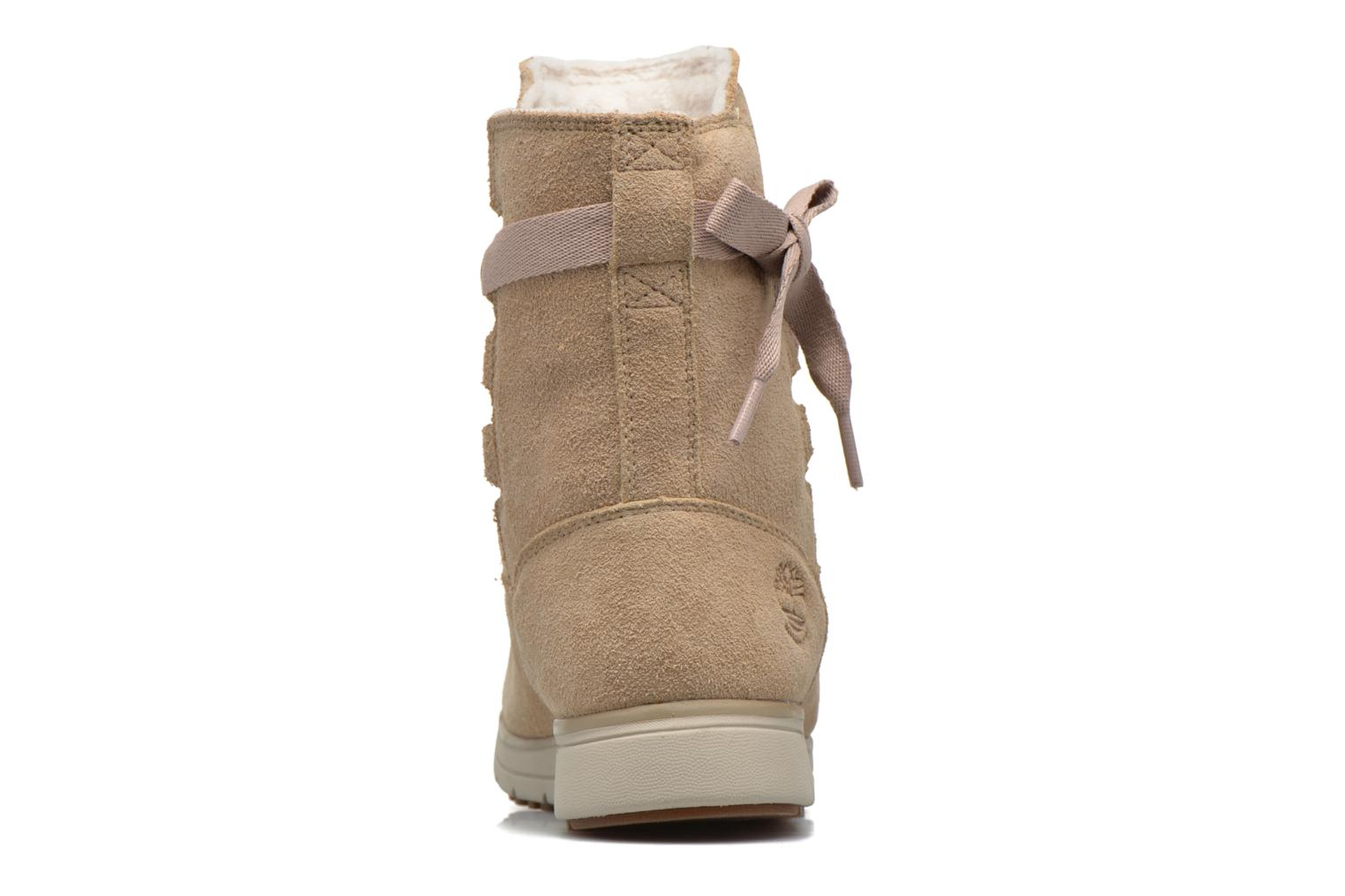 Ankle boots Timberland Leighland Pull On WP Beige view from the right