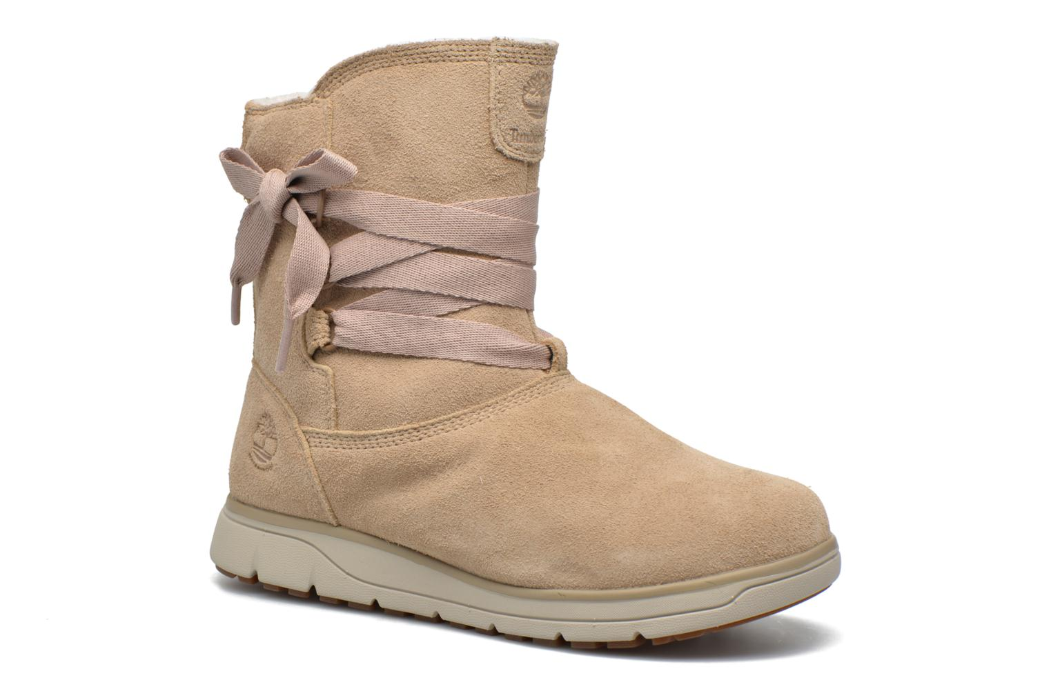 Ankle boots Timberland Leighland Pull On WP Beige detailed view/ Pair view