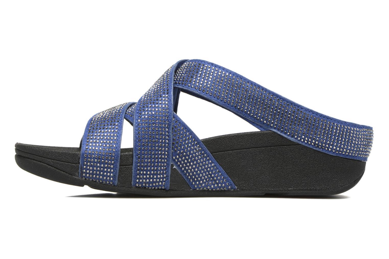 Mules et sabots FitFlop Slinky Rokkit Criss-Cross Slide Bleu vue face