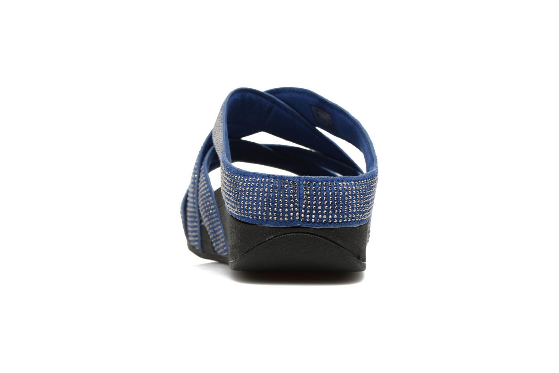 Mules et sabots FitFlop Slinky Rokkit Criss-Cross Slide Bleu vue droite