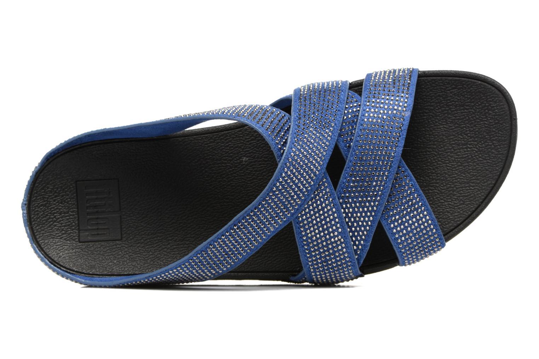 Mules et sabots FitFlop Slinky Rokkit Criss-Cross Slide Bleu vue gauche