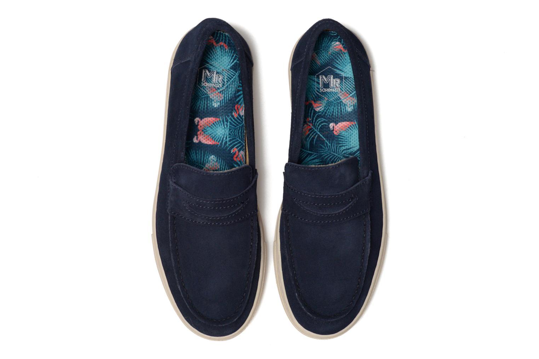 Mocassins Mr SARENZA Sakha Bleu vue portées chaussures