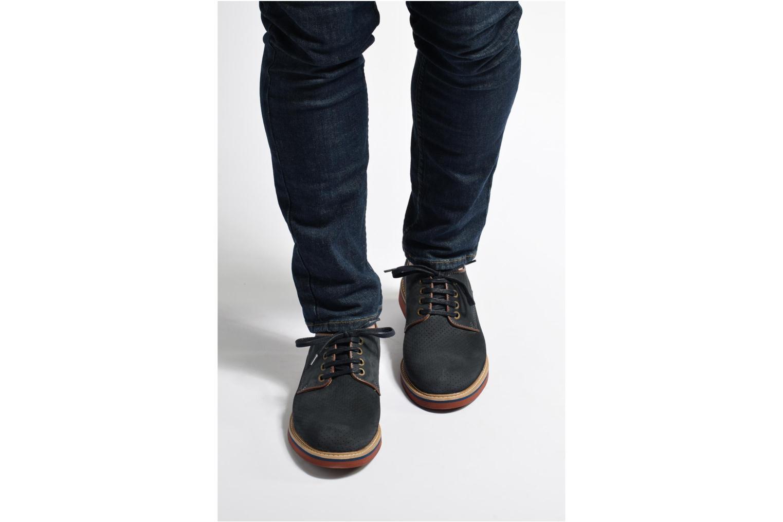 Chaussures à lacets Mr SARENZA Sandoring Bleu vue bas / vue portée sac