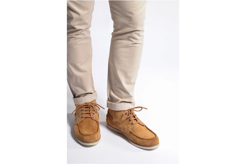 Chaussures à lacets Mr SARENZA Stavanger Bleu vue bas / vue portée sac