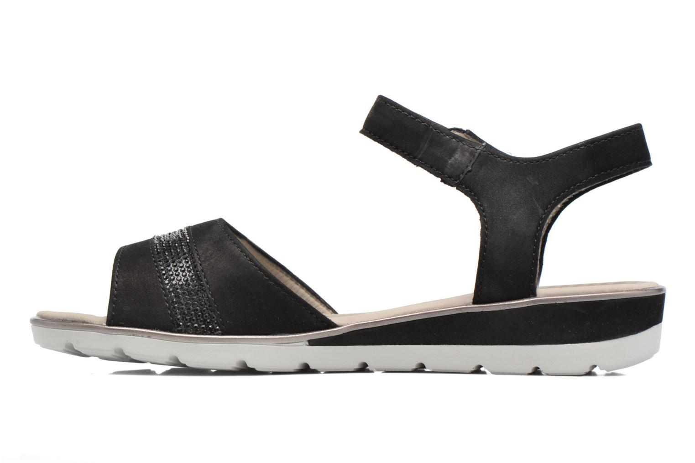 Sandales et nu-pieds Ara Alassio 33526 Noir vue face