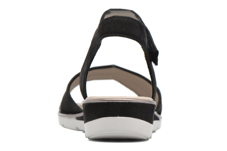 Sandales et nu-pieds Ara Alassio 33526 Noir vue droite