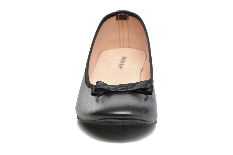 Ballerines Isotoner Ballerine nœud gros grain Noir vue portées chaussures