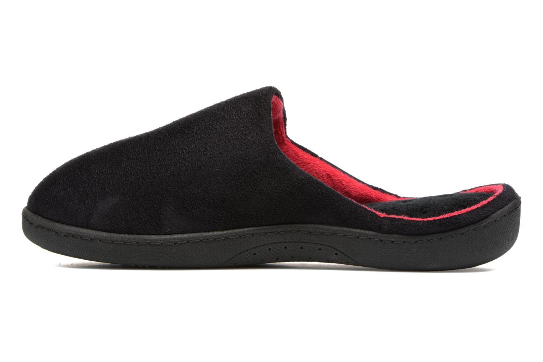 Chaussons Isotoner Mule ergonomique XTRA Confort suédine Noir vue face