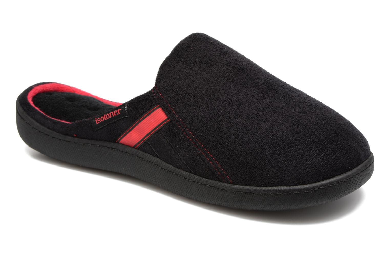 Chaussons Isotoner Mule ergonomique XTRA Confort suédine Noir vue détail/paire