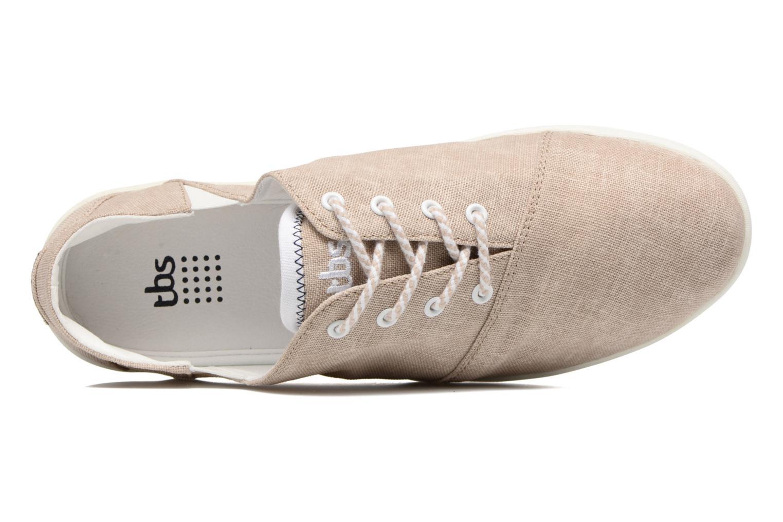 Chaussures à lacets TBS Teodora Beige vue gauche