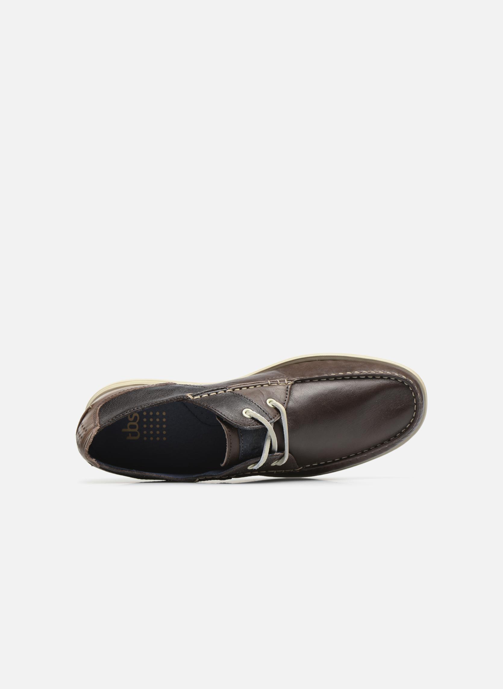 Chaussures à lacets TBS Fortye Marron vue gauche