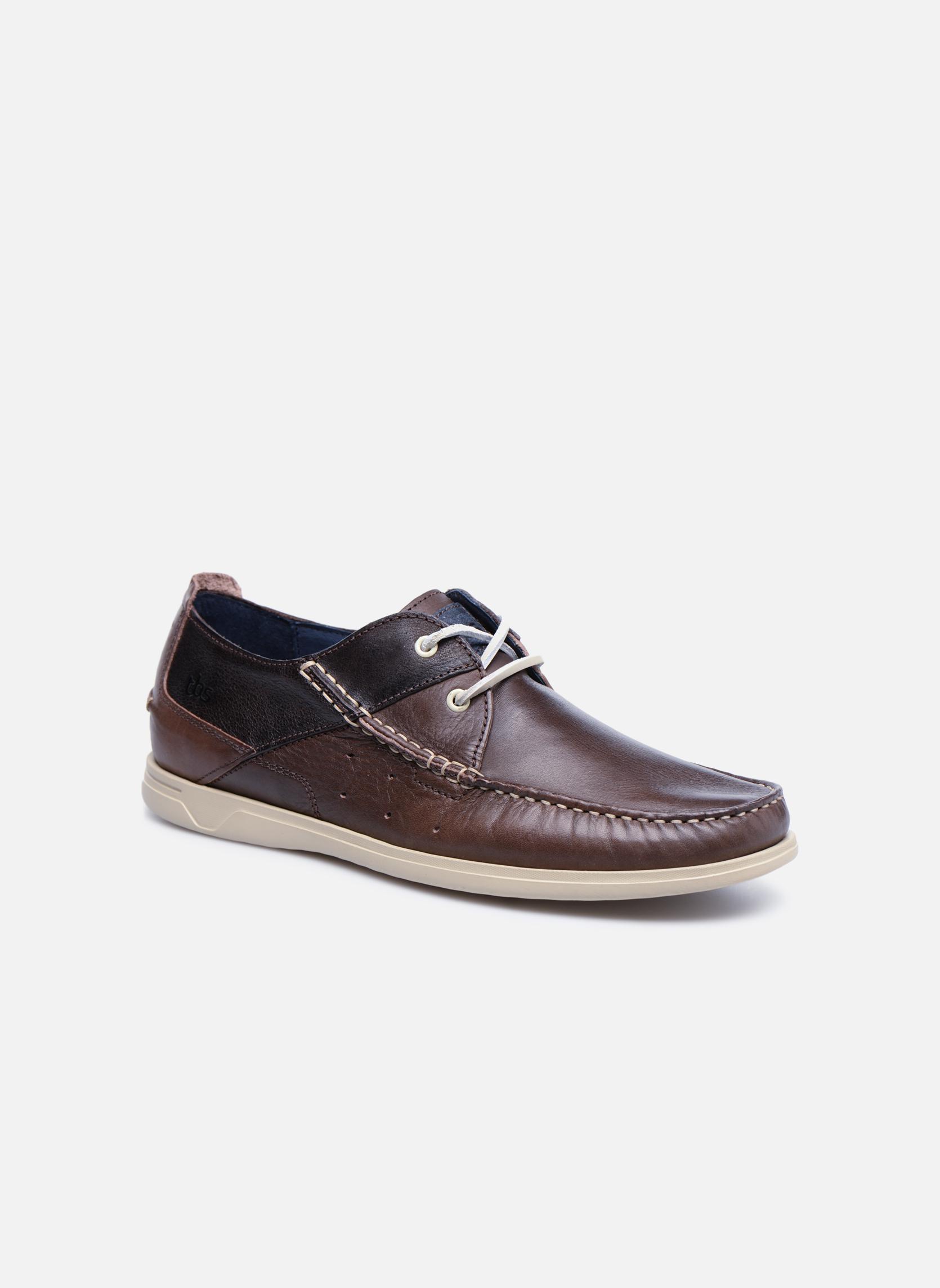 Chaussures à lacets TBS Fortye Marron vue détail/paire