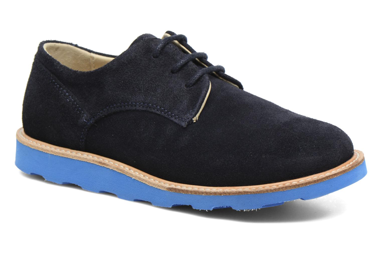 Chaussures à lacets Young Soles Alfie Bleu vue détail/paire