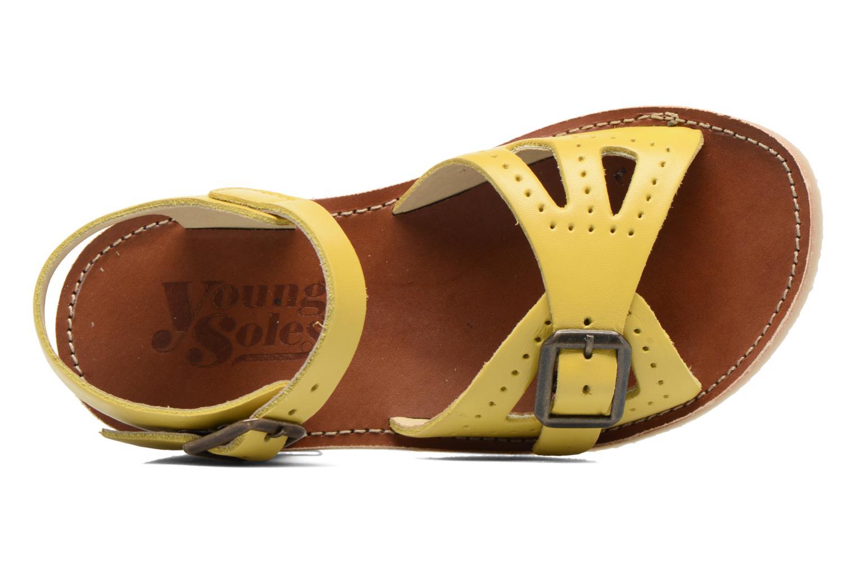 Sandales et nu-pieds Young Soles Pearl Jaune vue gauche