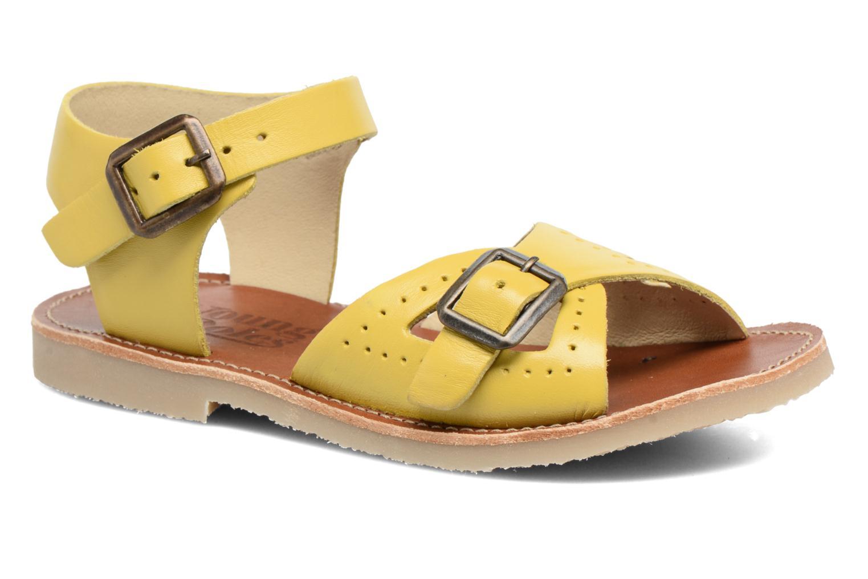 Sandales et nu-pieds Young Soles Pearl Jaune vue détail/paire