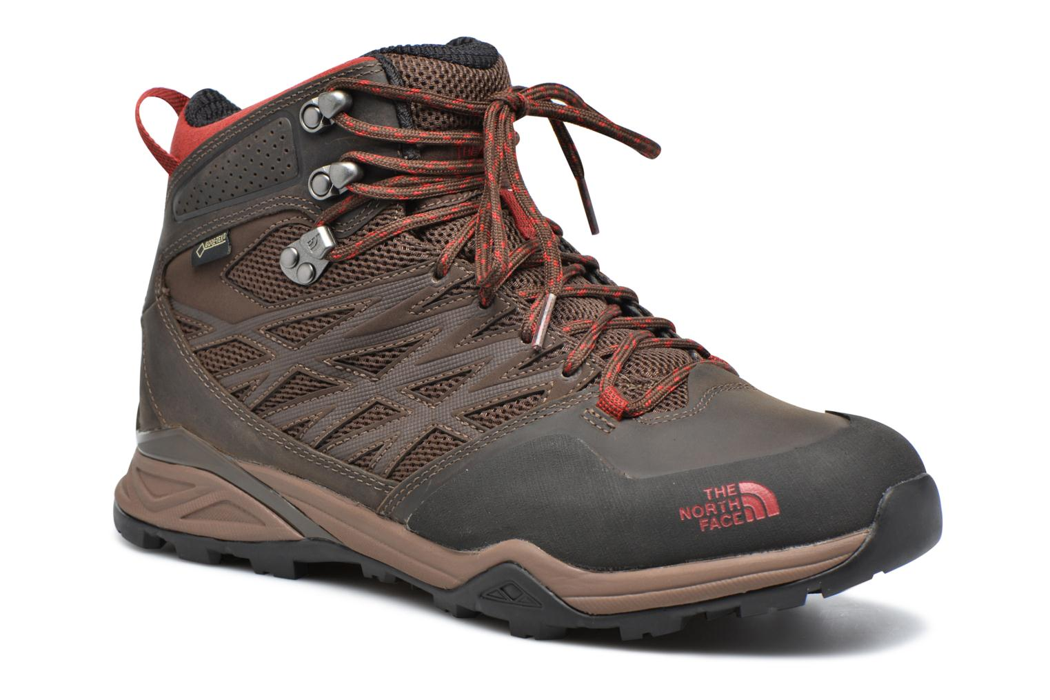 Chaussures de sport The North Face Hedgehog Hike Mid GTX Marron vue détail/paire
