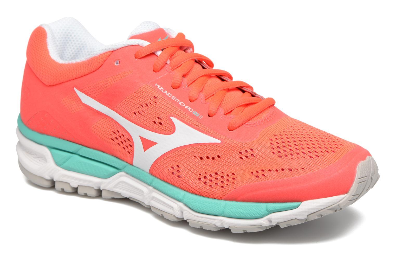 ladies shoes mizuno mizuno synchro mx 2 wfiery coral / white / turquoise