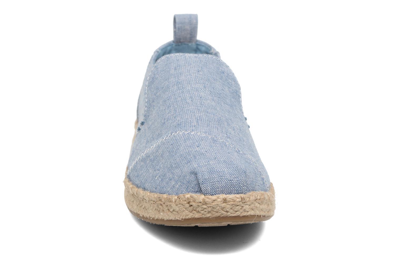 Espadrilles TOMS Deconstr. Alpargata Bleu vue portées chaussures