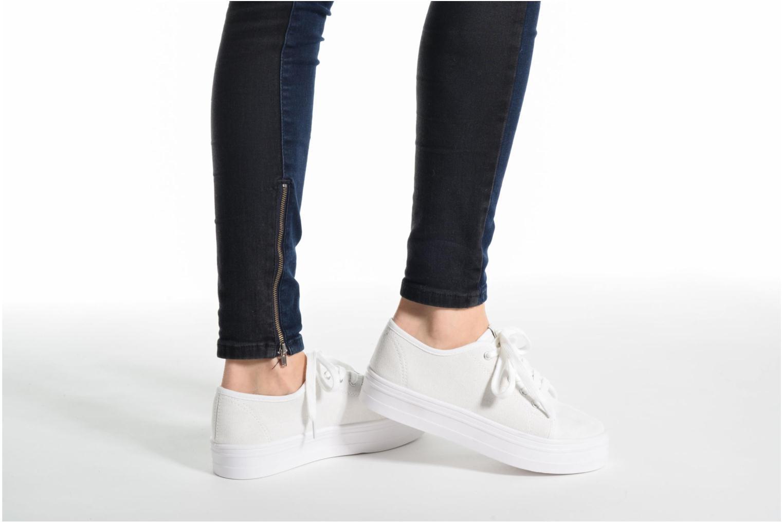 Baskets ONLY Sarina Plain Sneaker Blanc vue bas / vue portée sac
