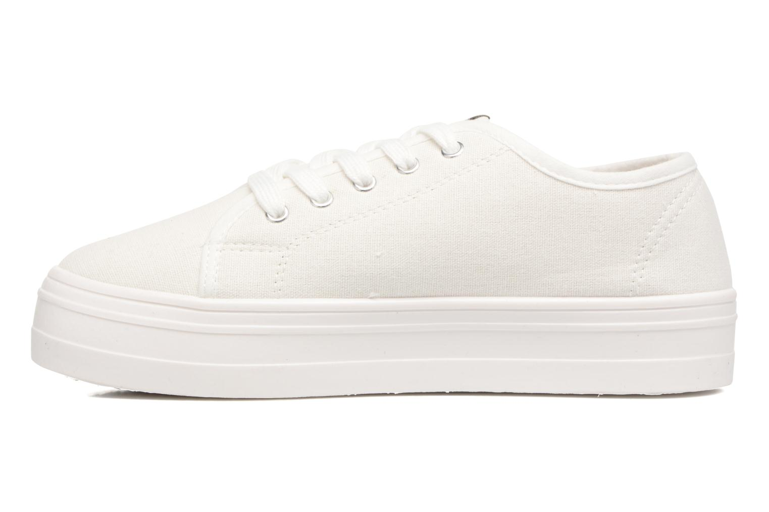Sneakers ONLY Sarina Plain Sneaker Bianco immagine frontale