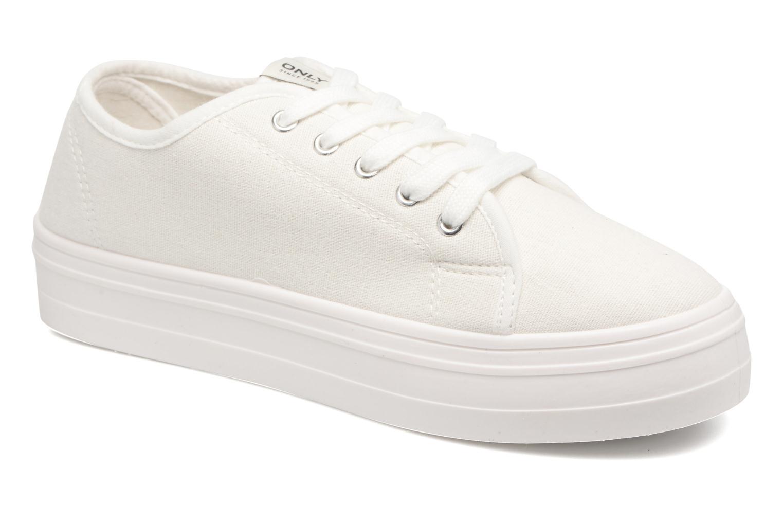 Baskets ONLY Sarina Plain Sneaker Blanc vue détail/paire