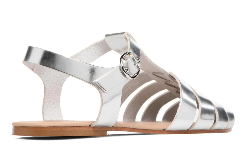Sandalias Made by SARENZA Pastel Belle #1 Plateado vista de frente