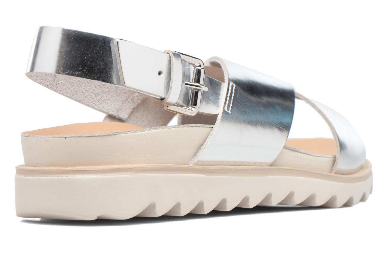Sandales et nu-pieds Made by SARENZA Pastel Belle #8 Argent vue face