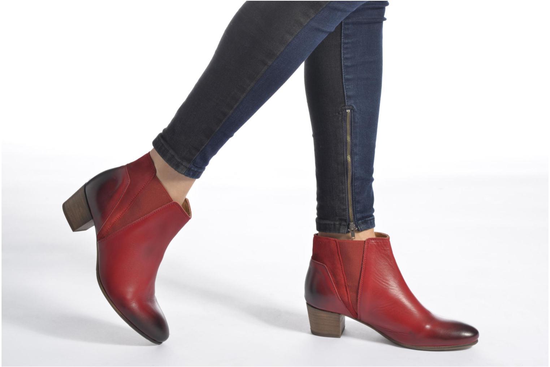Bottines et boots Kickers Freddie Gris vue bas / vue portée sac