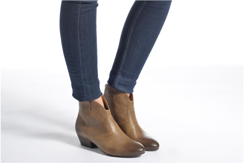 Bottines et boots Kickers Western Noir vue bas / vue portée sac
