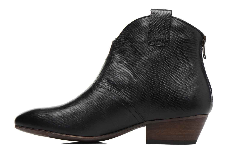 Bottines et boots Kickers Western Noir vue face