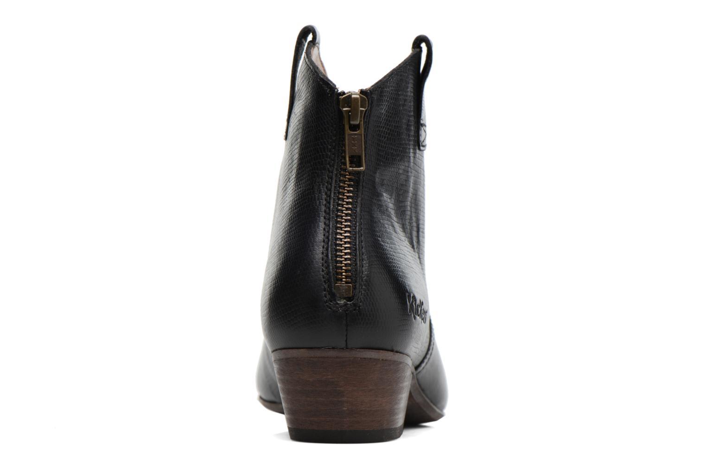 Bottines et boots Kickers Western Noir vue droite