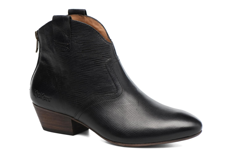 Bottines et boots Kickers Western Noir vue détail/paire