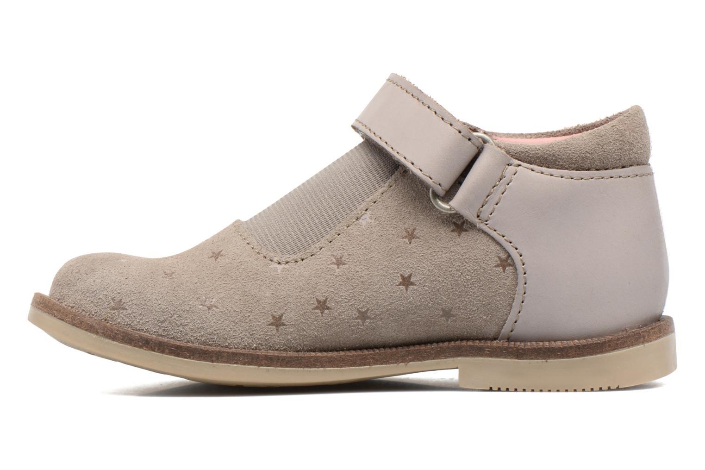 Chaussures à scratch Kickers Moly Beige vue face