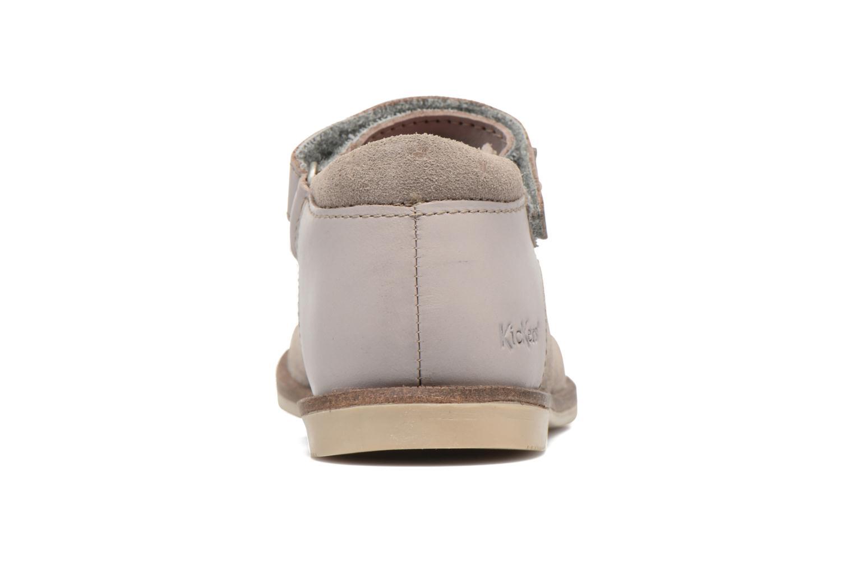Chaussures à scratch Kickers Moly Beige vue droite