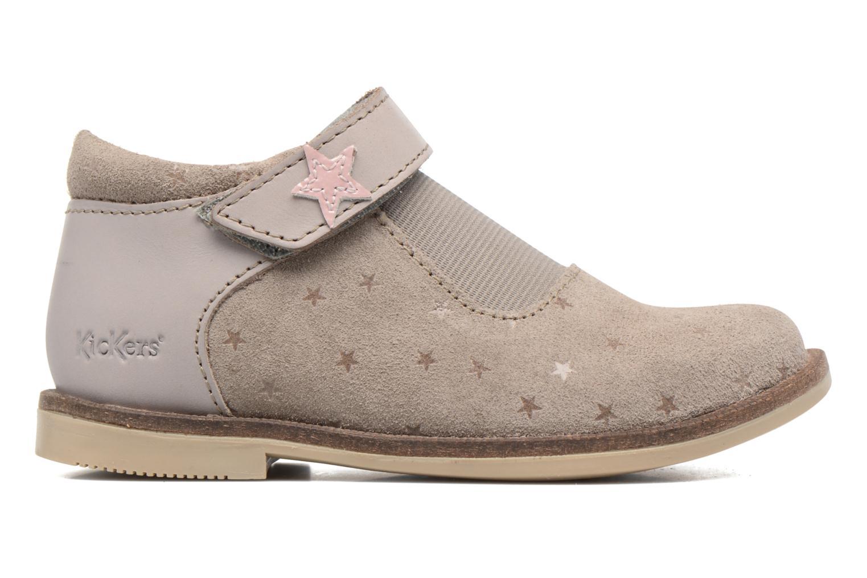 Chaussures à scratch Kickers Moly Beige vue derrière