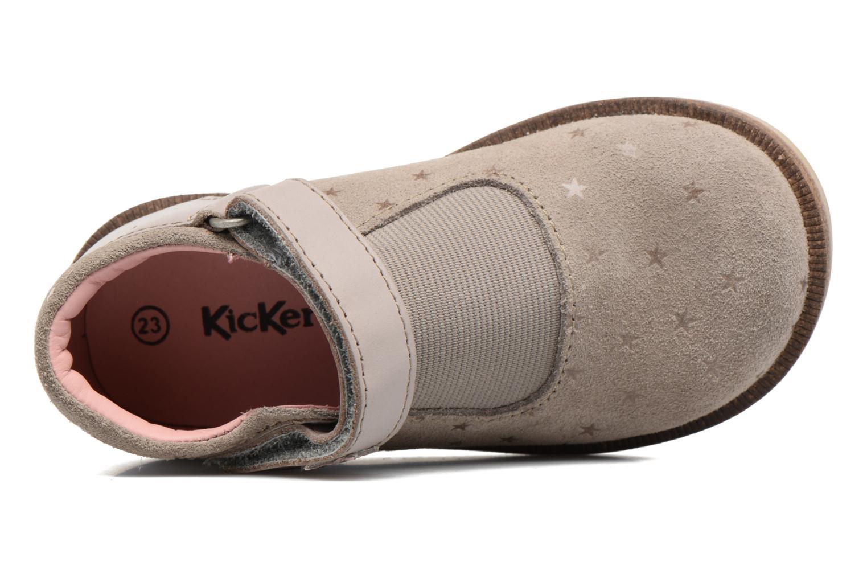 Chaussures à scratch Kickers Moly Beige vue gauche