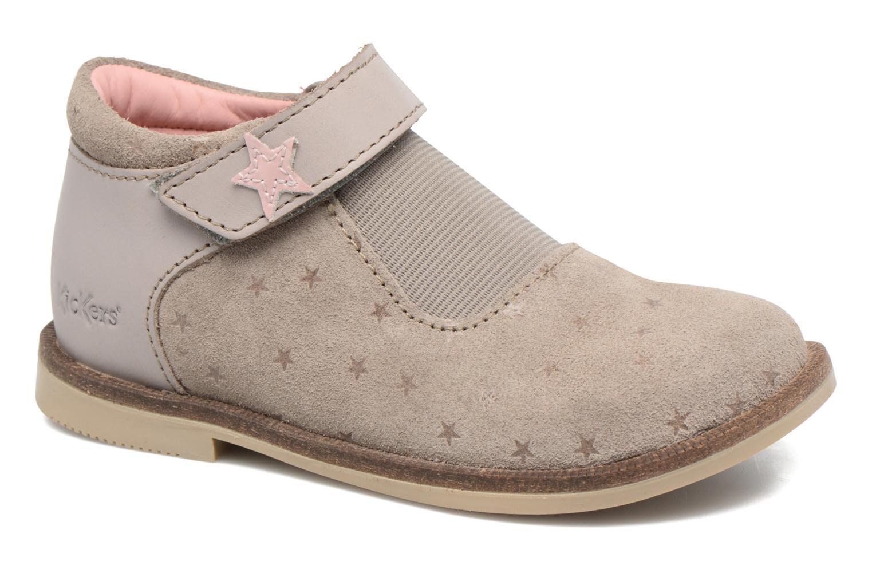 Chaussures à scratch Kickers Moly Beige vue détail/paire
