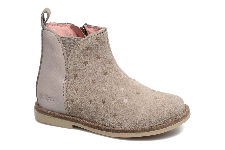 Bottines et boots Kickers Mooky Beige vue détail/paire