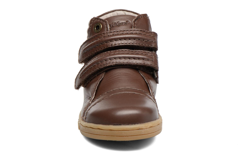 Baskets Kickers Trackpad Marron vue portées chaussures