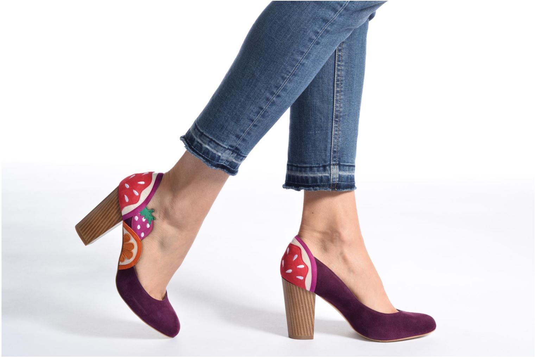 Zapatos de tacón Mellow Yellow Befruitty Violeta      vista de abajo