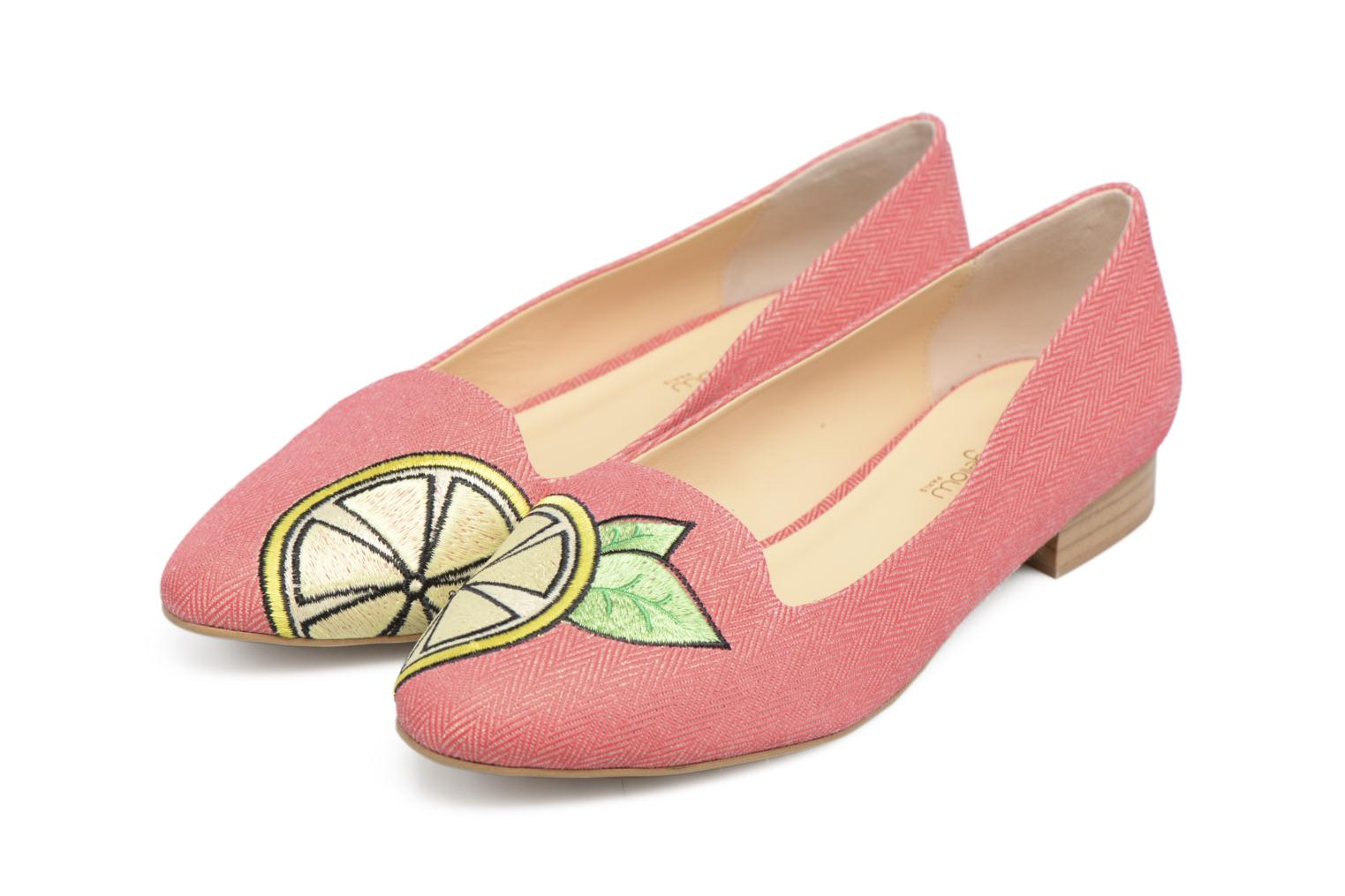 Loafers Mellow Yellow Becco Pink 3/4 view