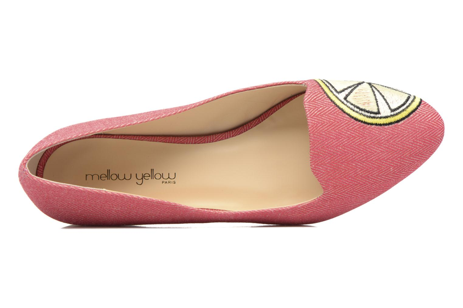 Slipper Mellow Yellow Becco rosa ansicht von links