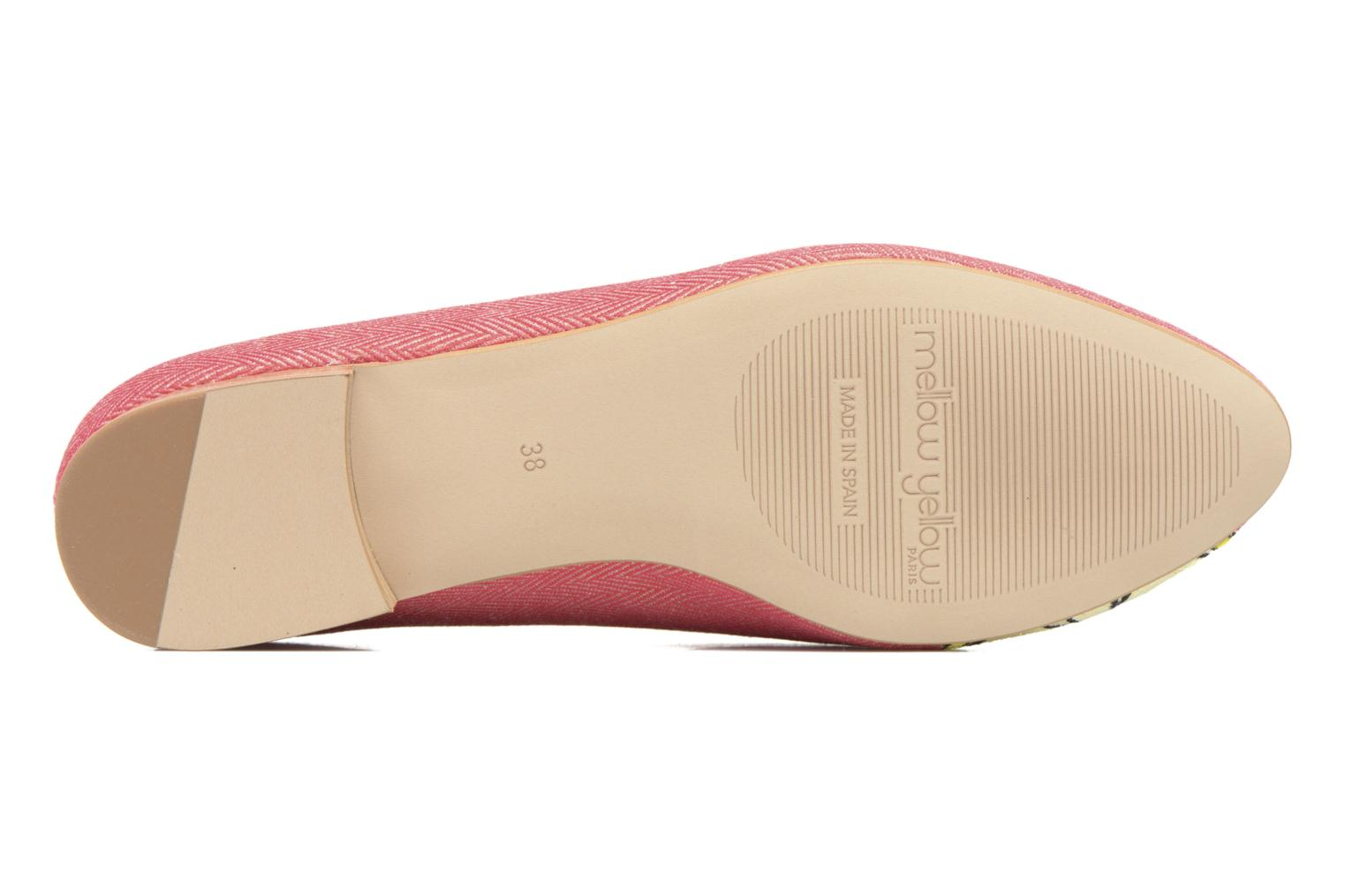 Loafers Mellow Yellow Becco Pink view from above