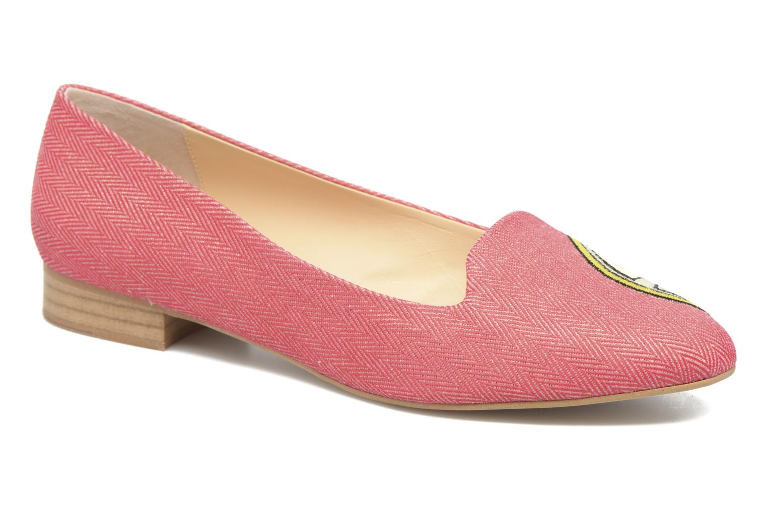 Loafers Mellow Yellow Becco Pink detailed view/ Pair view