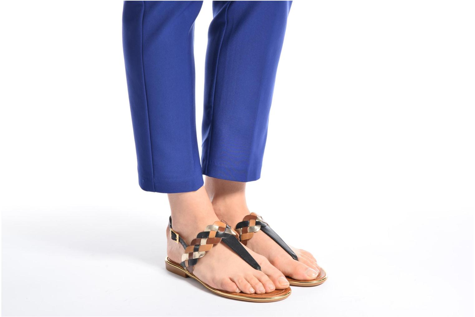 Sandals Mellow Yellow Bapo Brown view from underneath / model view