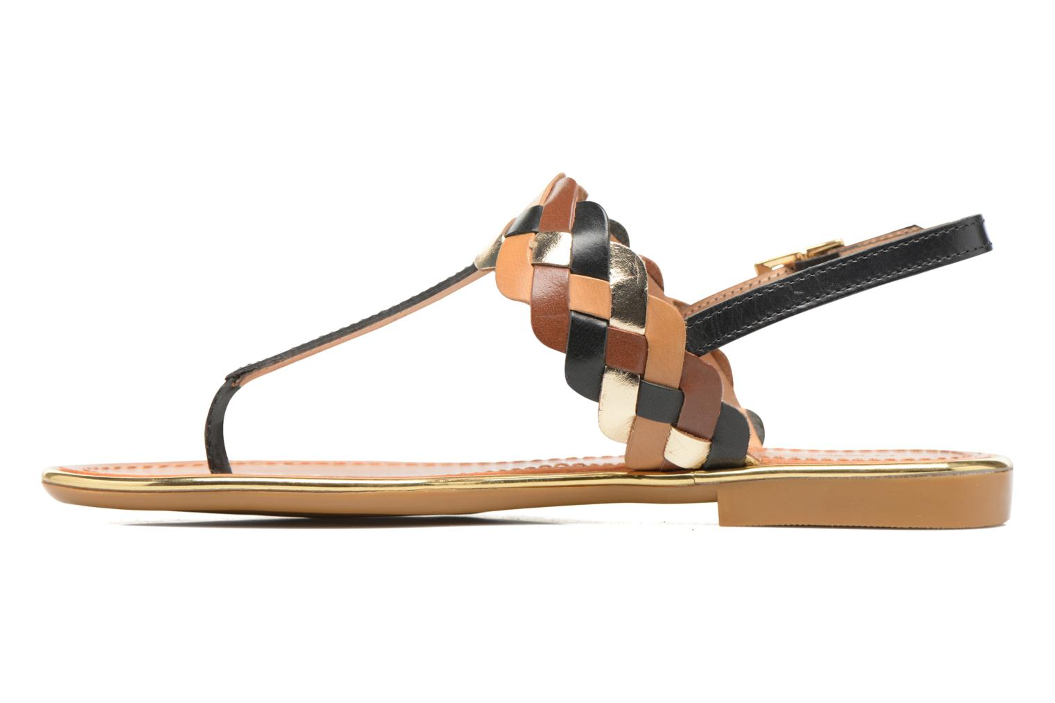Sandals Mellow Yellow Bapo Brown front view