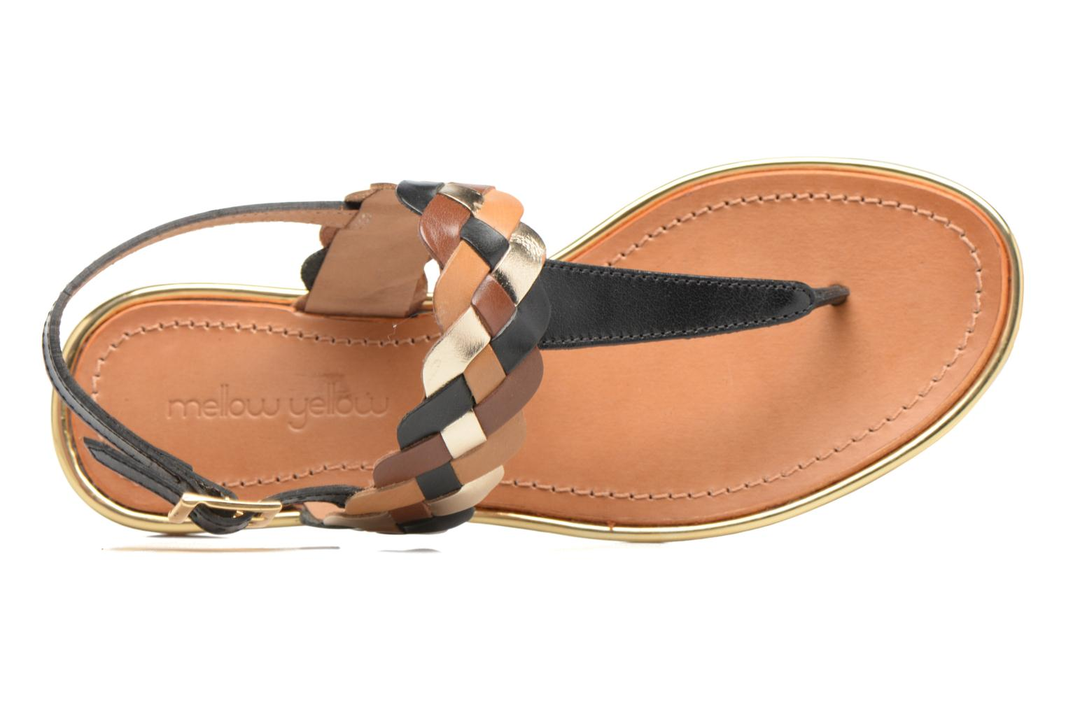 Sandals Mellow Yellow Bapo Brown view from the left