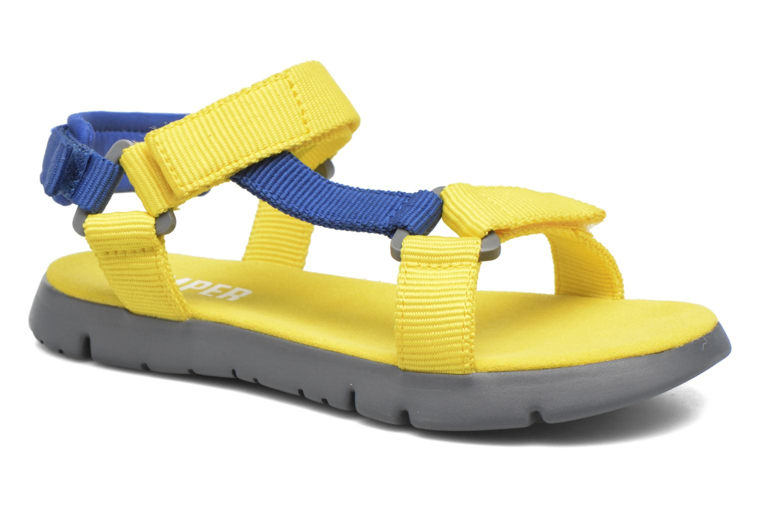 Sandals Camper Mira E Yellow detailed view/ Pair view
