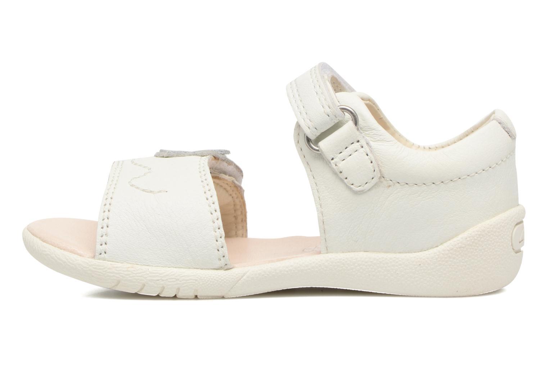 Sandales et nu-pieds Clarks Kiani Sun Fst Blanc vue face